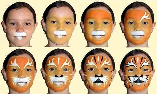 разрисовыванием лиц,