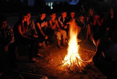 огоньки в лагере знакомство