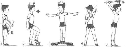 Упражнения для правильной осанки у детей — Летний лагерь Стопы Рисунок