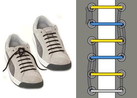 Еще схемы шнуровок, благодаря