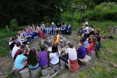 Знакомство в лагере огонек